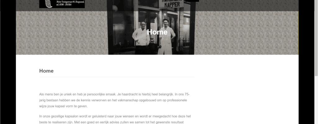 Website voor Kapsalon Rijkens