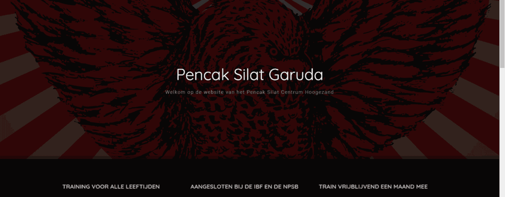 Website voor Pencak Silat Centrum Hoogezand