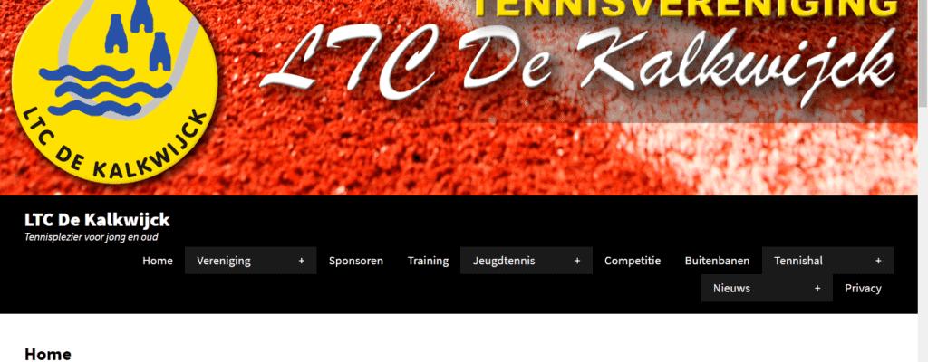 Demo Website voor Tennisvereniging LTC De Kalkwijck