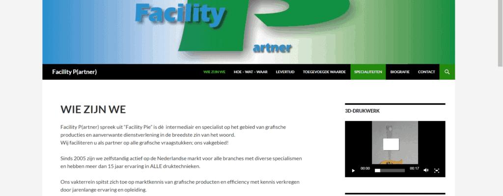 Website voor Facility-P