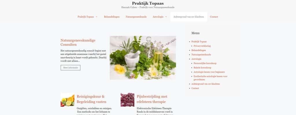 Website voor Praktijk Topaas